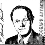 Passport photo of E. Howard Hunt, among the unsealed materials in Box 3.