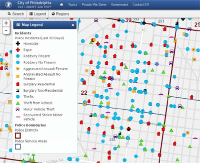 Crime Data Going Online – City of Philadelphia Releases New Search