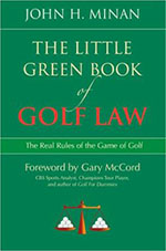 book cover: The Little Green Book of Golf Law