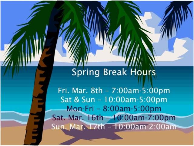 UGA Law Library spring break hours