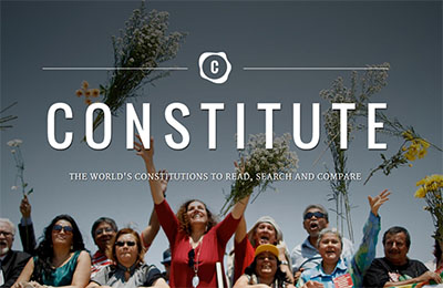front page of Constitute website