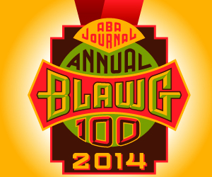 ABA Journal 2014 Blawg 100 Logo