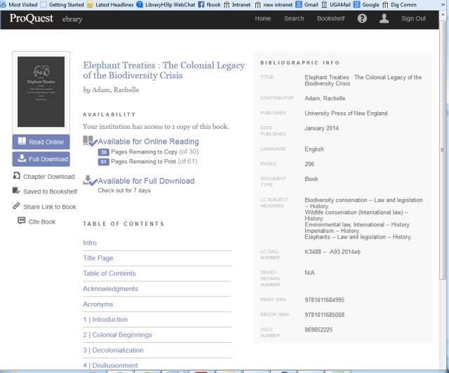 ProQuest eBook Screenshot