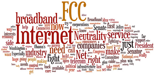 "Photo By: ""Wordle of Kerry's letter re: Net Neutrality"" by believekevin under a Creative Commons attribution 2.0 license"