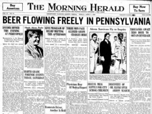Front page of The Morning Herald April 7, 1933