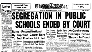 Article re: Brown v. Board of Education decision