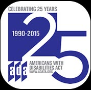 Americans with Disabilities Act 25th Anniversary Logo