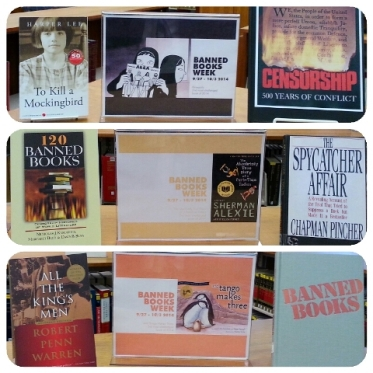 Banned Books Week 2015 display