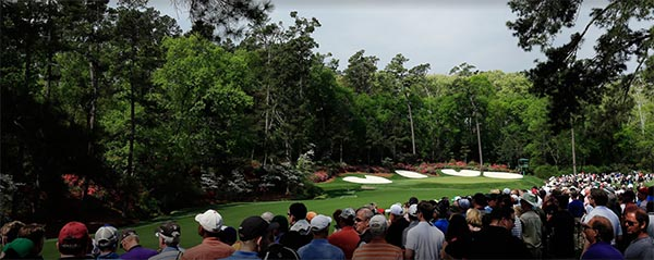 The beautiful golf course at the Masters Tournament