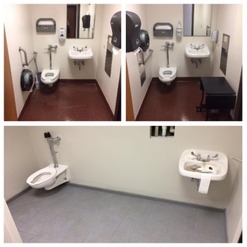 Annex First Floor Bathrooms: 2 Become 1!